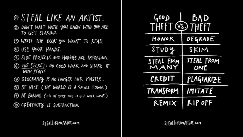 Steal Like An Artist by Austin Kleon